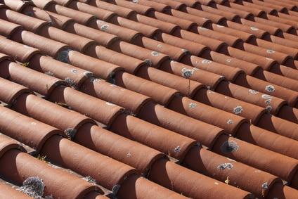 Tuiles faiblement dégradé sur toiture jeune