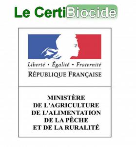 certification et label logo certibiocide république française.